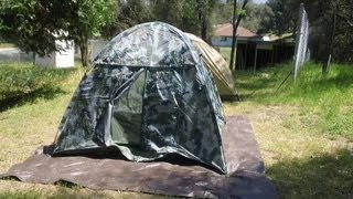 Chinese P.L.A. Army Tent (Fake?) Vs. US Marine Combat Tent