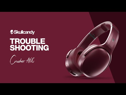 video Skullcandy Crusher Active Noise Cancellation Wireless Over-Ear Headphone (Black)