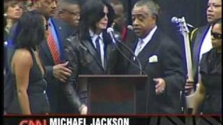 Michael Jackson at James Browns Funeral 2006