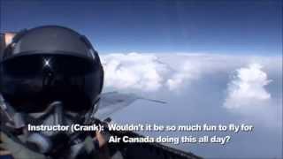 F18 training flight landing in a civilian airport