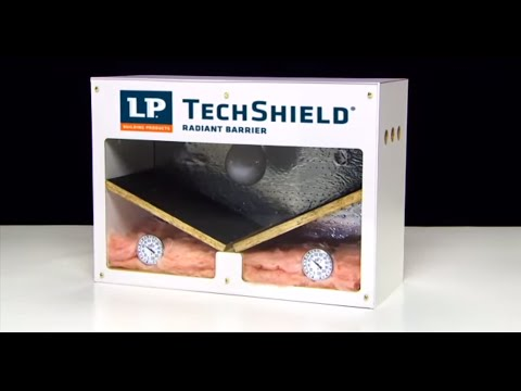 Lp 174 Techshield 174 Radiant Barrier Product Demonstrator Youtube
