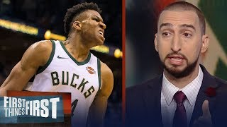 Nick and Cris react to the Milwaukee Bucks beating the Cleveland Cavs 119-116 | FIRST THINGS FIRST