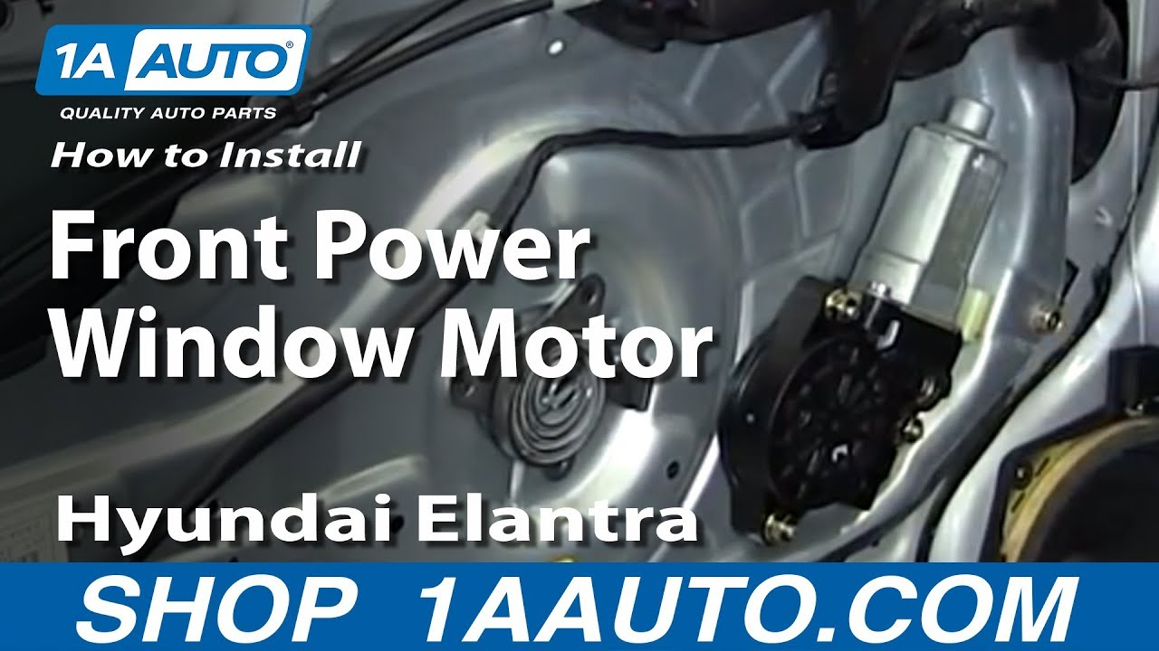 How To Install Replace Front Power Window Motor 2001 06