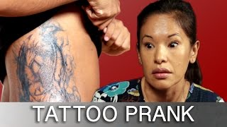 Sons Prank Parents With Tattoos