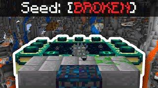 So I did a speedrun on a BROKEN Minecraft Seed...