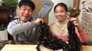 |TẬP 368| ĂN LÁ RONG BIỂN TƯƠI,SEAWEED MUKBANG,생미역 먹기