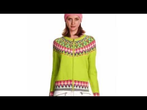 Bogner Stacey Womens Knit in Lime Green