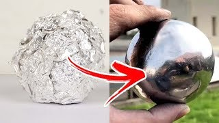 3 Easy Steps To Make a Polished Aluminum Foil Ball - Japanese Foil Ball