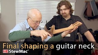 Watch the Trade Secrets Video, Dan Erlewine's tips for shaping a guitar neck