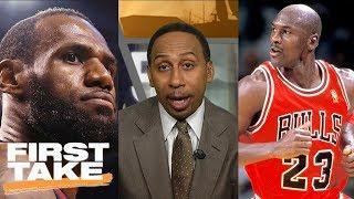 Stephen A. Smith: LeBron James can never surpass Michael Jordan | First Take | ESPN