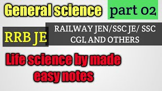 LIFE SCIENCE GK FOR ALL EXAMS PART 2