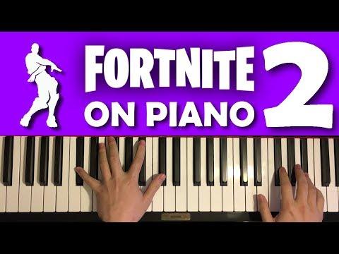 FORTNITE DANCES ON PIANO (PART 2)