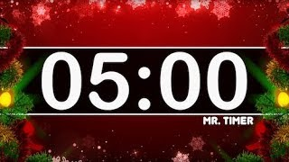 5 Minute Christmas Countdown Timer for Kids!