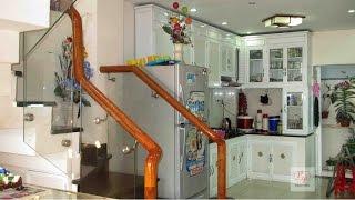 Mẫu tủ bếp nhôm kính thiết kế mẫu đẹp cho ngôi nhà hiện đại