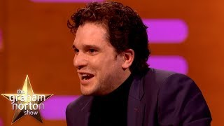 Kit Harington Lives With A Life Size Statue of Jon Snow From Game of Thrones |The Graham Norton Show