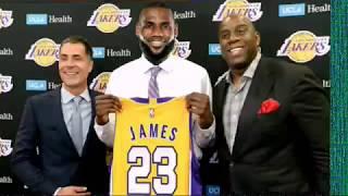 Lebron James will sign LA Lakers Magic Johnson Rich Paul Free agency Cleveland KCP NBA trade Kawhi