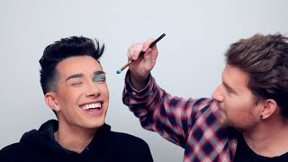 Doing James Charles' Makeup Using His Own Palette