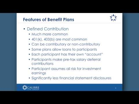 Employee Benefit Plan Basics