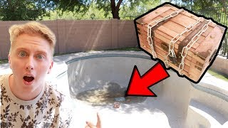 WE FOUND A TREASURE CHEST ON THE BOTTOM OF THE POOL/SWAMP! WE OPENED IT! GM MESSAGE?
