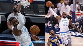 LeBron Throws Down Huge Lob in Return vs Pacers! 2020-21 NBA Season