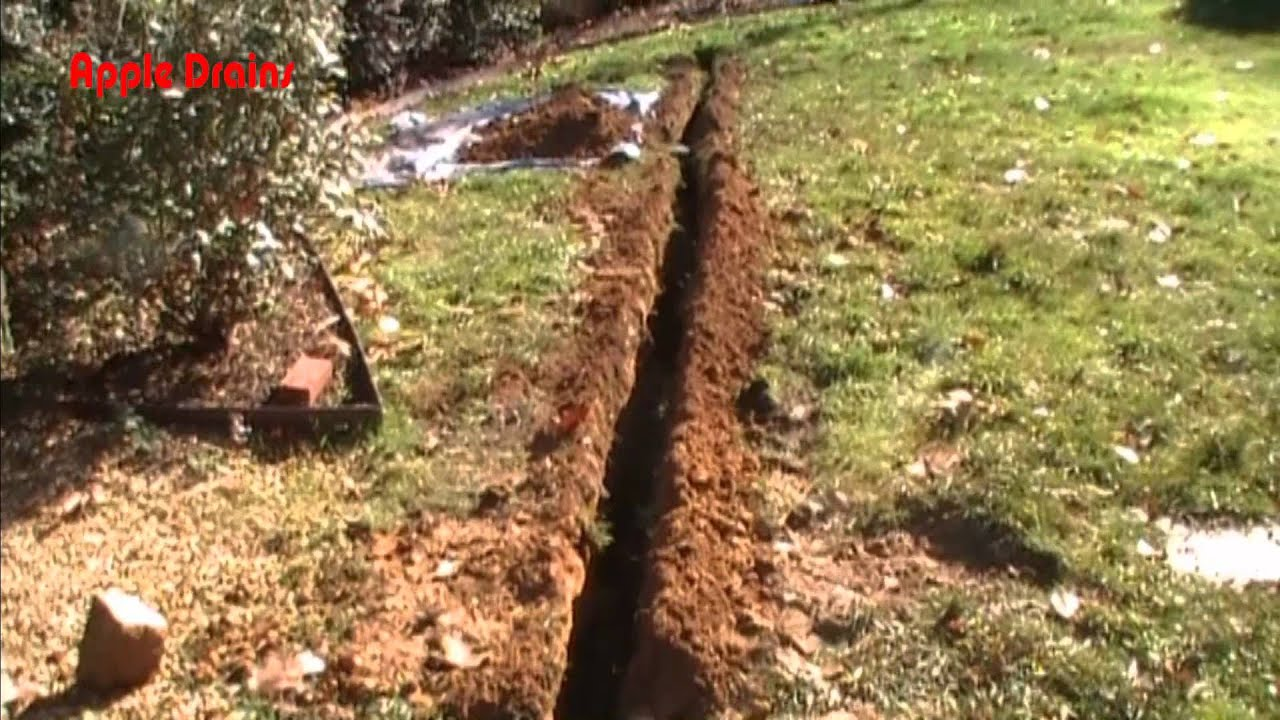 Wet Yard Solutions The French Drain Youtube