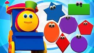 bob formas Trem   geométricas formas   Bob Shapes Train   Kids Tv Português   Canções dos miúdos