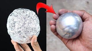 Making Polished Aluminum Foil Ball - Japanese Foil Ball Challenge