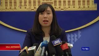 Việt Nam lên tiếng về việc Trung Quốc tập trận trên Biển Đông