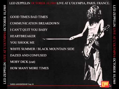 How Many More Times - Led Zeppelin (live Paris 1969-10-10 ...