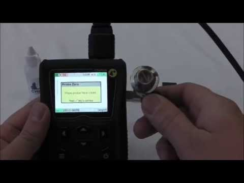 Zeroing a Twin Crystal Probe for a Cygnus Ultrasonic Thickness Gauge