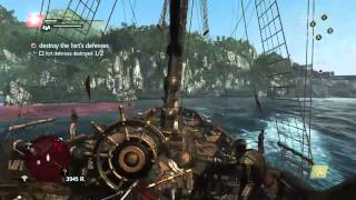 Assassin's Creed 4 Destroy The Fort's Defenses Xbox One