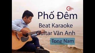 Phố đêm (Tâm Anh) - Beat karaoke Guitar Văn Anh - (Tone nam Gm)