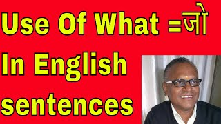 Use Of What =जो In English sentences Through Skype Online With Indian Accent!