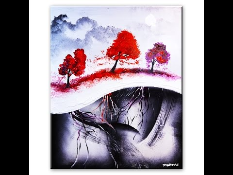 Painting abstract landscape art