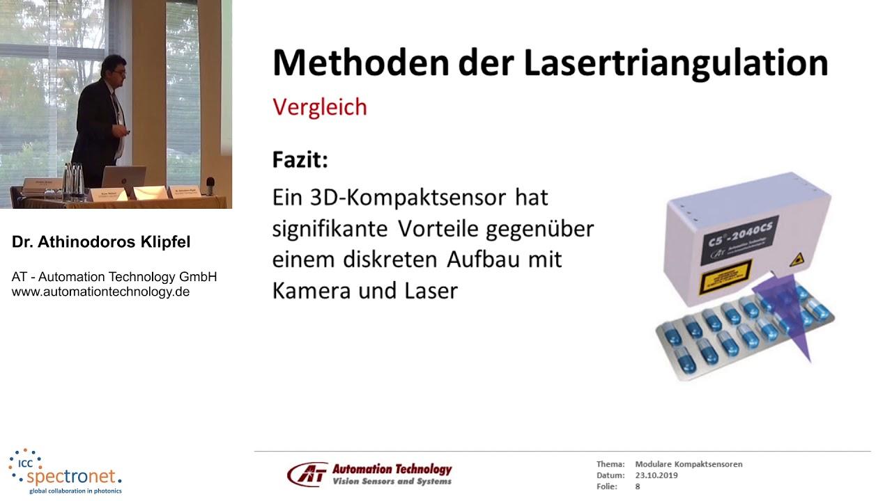 Modular Compact Sensors (MCS): Neuartige 3D-Lasertriangulationssensoren - Technologieforum Bildverarbeitung 2019