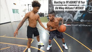 Reacting to 1V1 AGAINST 16 Year Old Mikey Williams!! INTENSE!