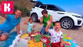 Челлендж Пикник на машинах / Мальчики против Девочек / Едем на море
