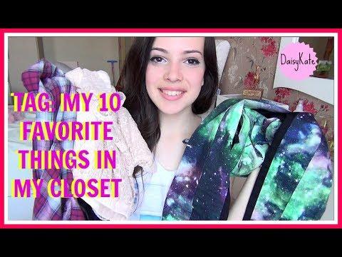 TAG: MY 10 FAVORITE THINGS IN MY CLOSET/10 любимых вещей в моем гардеробе