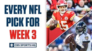 Brady Quinn and Pete Prisco make EVERY WEEK 3 NFL Pick | CBS Sports HQ