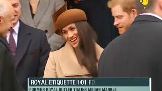 Megan Markle being trained by ex-royal butler..