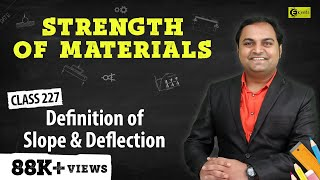 Definition of Slope and Deflection - Slope and Deflection of Beams - Strength of Materials