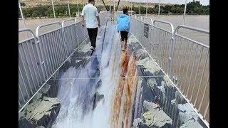 比張家界玻璃棧道刺激10000倍,世界首座3D玻璃橋----黃河3D玻璃橋 玩的就是心跳