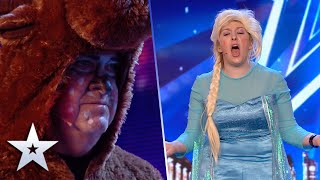 Unforgettable Audition: Katherine and Joe take on Frozen's 'Let It Go' | BGT 2019