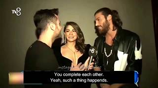 Demet Ozdemir and Can Yaman - The Voice interview English Sub