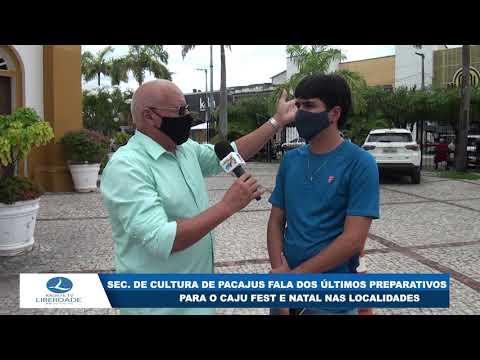 ECRETÁRIO DE CULTURA DE PACAJUS FALA DOS ÚLTIMOS PREPARATIVOS PARA O CAJU FEST E NATAL NAS LOCALIDA