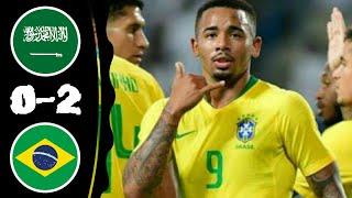 Saudi Arabia vs Brazil 0-2 All Goals & Extended Highlights 12-10-2018