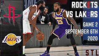 Rockets v Lakers HIGHLIGHTS  Game 2 | NBA Playoffs 2020 Round 2 September 6th 2020