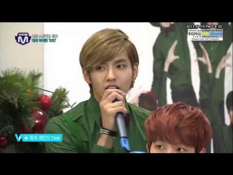 EXO Mnet Wide Baekhyun funny voice, Kris & Chanyeol Beatbox 131219