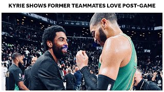 Kyrie Irving Shows Love To Boston Celtics Players Postgame
