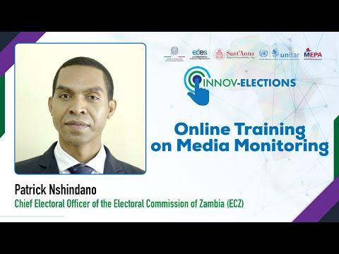 E-formation à la surveillance des médias - Patrick Nshindano Directeur général des élections de la Commission électorale de la Zambie